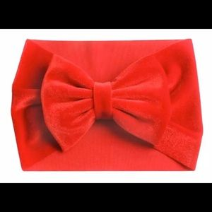 Other - New boutique velvet turban headband bow big